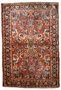 Handmade Antique Oriental Rug 3.3and039 X 5.4and039 100cm X 164cm 1920s - 1b826