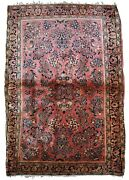 Handmade Antique Oriental Rug 3.3and039 X 5.2and039 100cm X 158cm 1920s - 1b831
