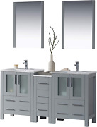 Blossom Sydney 60 Inches Double Sink Bathroom Vanity Side Cabinet Ceramic Sin