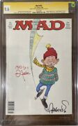 Mad Magazine 293 1990 Sergio Aragones And Frank Jacobs Signed Cgc 9.6 White Pages