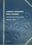 walking Liberty Half Dollar Collection In Album 1937-1947 Pds Mints