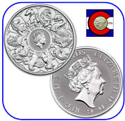 2021 Queenand039s Beast Collection Completer 2 Oz Silver Coin In Direct Fit Capsule