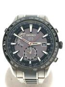 Seiko Astron Date Japan Box World Time Gps Solar Mens Watch Authentic Working