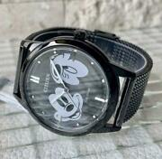 Citizen Stainless Steel Rare Disney Mickey Mouse Eco-drive Solar Mens Watch
