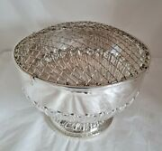 Antique Sterling Silver Rose Bowl. London 1908.by Goldsmiths And Silversmiths Co