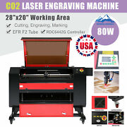 Us Stock 28andtimes20 Efr 80w Co2 Laser Engraving Engraver And Cutter Machine Fdaandce