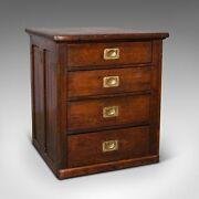 Antique Campaign Chest Of Drawers English Pitch Pine Shop Retail Victorian