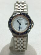Citizen H050-t020224 Exceed Euros Solar Shell Dial Ladies Watch Pre Owned U0802