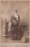 Early African American Young Woman Antique Cabinet Card Photo 1876 Nashville Tn