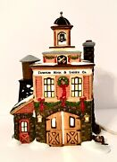 Dept 56 Franklin Hook And Ladder New England Series Christmas 1998