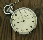 Rare Antique Pocket Watch Longines 19.74n Nice Condition Vintage Swiss Watch Wwi