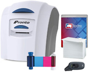Magicard Pronto Id Card Printer And Complete Supplies Package With Bodno Id Softwa
