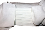 Atlas Towels White Shop Towels - 4 Bales Of 2500=10000 - Size 13 X 13 Inches -