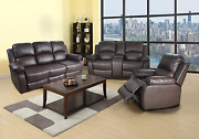 Combination Sofa Living Room Office Sofa Set Drop-down Table Leather Recliner So