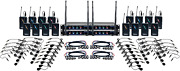 16 Channel Uhf Wireless Headset And Lapel Mic System With Mic-on-chip Technology
