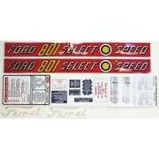 Complete Decal Set Fits Ford Tractor 801 Select-o-speed Vinyl Cut