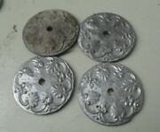 Lot Of 4 Vintage Lead Architectural Salvage Parts For Lamps Decor 1 7/8 Wide