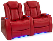 Seatcraft Delta Home Theater Seating Leather Power Recline Powered Headrests A