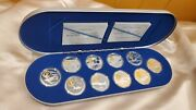 Canada 20 Aviation Set Series Ii. Sterling Silver Coins With Gold Cameo