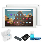 Fire Hd 10 Inch Tablet - 64 Gb 2019 Wi-fi, White With Wireless Bluetooth