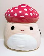 Squishmallows Kellytoy Official Foods 16 Malcolm The Mushroom Plush Doll Toy