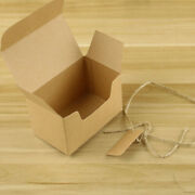 50 Sets Kraft Paper Candy Boxes, Vintage Kraft Paper Gift Bags With Rope And Cards