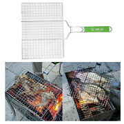 Stainless Steel Bbq Fish Grilling Basket Vegetables Steak Grill Net Accs