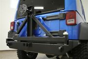 Rock Hard 4x4 Patriot Series Rear Bumper With Tire Carrier For Jeep Wrangler Jk
