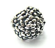 Very Rare Huge James Avery Retired Openwork Dome Ring Sterling Silver Neat