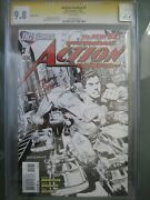 Action Comics 1 Sketch Cover 1200 Cgc 9.8 Wp Ss Signed Rags Morales New 52