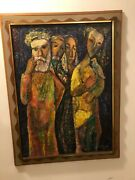 Original Oil Painting,signed 1968the Omenby Mortimer Borne Listed Impressionist