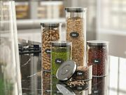 Wholesale Lot Of 25 Airtight Glass Food Storage Jar Set, Stainless Steel Lids