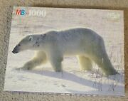 Sealed Mb Nature Polar Bear 1000 Piece Puzzle 1991 4091-24 Brand New Sealed