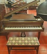 Vintage George Steck And Co Baby Grand Piano Year 1931 N.y. Usa - Walnut Finish