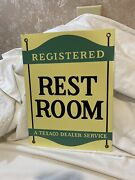 Vintage Style Texaco Registered Restroom Metal Sign Reproduction
