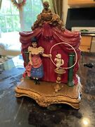 Antique Victorian Style Automaton Toy Woman And Dog Perform Trick