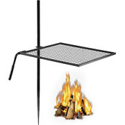 Vevor 24and039and039 Swivel Grill Swing Campfire Grill Adjustable Fire Pit Grill For Bbq