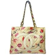 Coco Lips And Hearts Xl Vinyl Tote