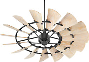 Quorum 196015-69 Transitional 60``patio Fan From Windmill Collection In Bronze /