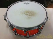 Used Pcdp Wooden Snare Drum 14 Inch 6 Inch Orange Color With External Case