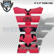 3d Tank Pad Sticker Decal Bike Fuel/gas Protector Kit Red Carbon Look Yoshimura