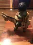 Vintage Universal Statuary Corp Mexican Mariachi Man Sleeping On Donkey Statue