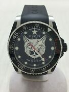 2019 Aw Dive Cat Self-winding Analog Rubber Black Menand039s Watch [u0804]