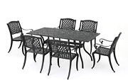 Christopher Knight Home Cayman Outdoor 6-seater Cast Aluminum Dining Set 7-pcs