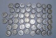 1961 Roosevelt Dime, 90 Silver Roll Of 50