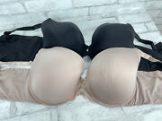 Torrid Curve Lot Of 2 - Black And Pink Padded Underwire T Shirt Bra Size 42ddd