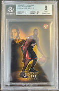 2003/04 Topps Pristine 115 Dwyane Wade Gold Refractor Rc Rare /99 Bgs 9 Mint