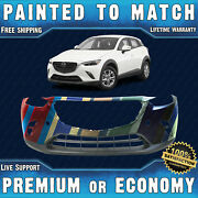 New Painted To Match - Front Bumper Replacement For 2016-2021 Mazda Cx-3 16-21