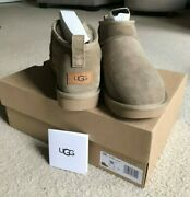 New Authentic Ugg Classic Ultra Mini Boots- Rare Antelope Color, Women's Size 11