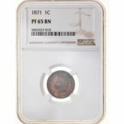 [970335] Coin United States Indian Head Cent Cent 1871 Philadelphia